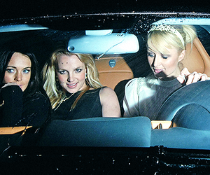 britney, britney spears, and lindsay lohan image