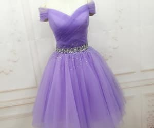 tulle dress, short party dress, and lavender dress image
