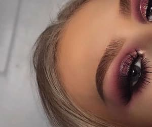 makeup, beauty, and pink image