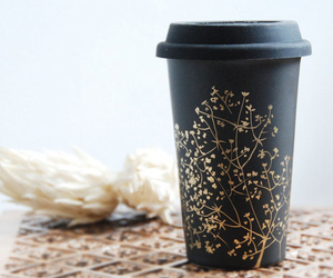coffee, black, and cup image