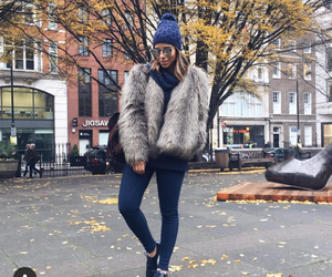 cool girl, winter outfit, and black beanie image