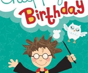 happy birthday and harry potter image