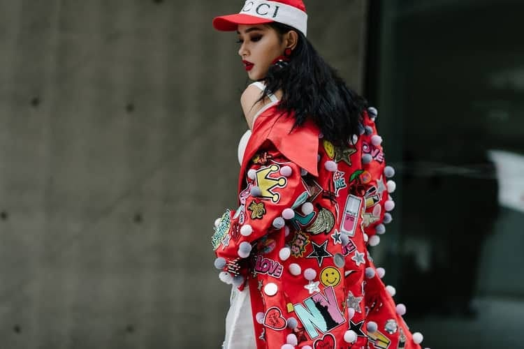 article, fashion, and red image