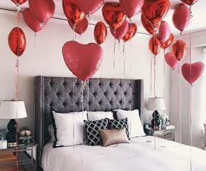 baloons, decor, and heart image