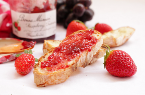 strawberry, dessert, and jam image