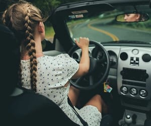 girl, braid, and car image