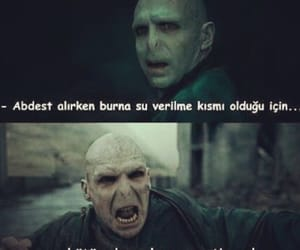 caps, voldemort, and funny image