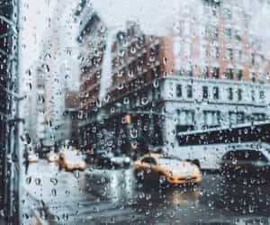 rain, city, and photography image