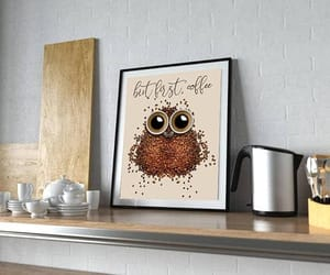 etsy, but first coffee, and kitchen print image
