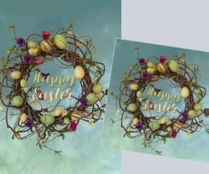 etsy, spring wreath, and easter decoration image