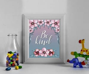 etsy, inspirational print, and be kind wall art image
