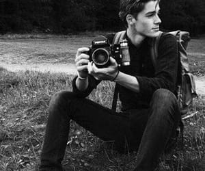 boy, black and white, and photography image