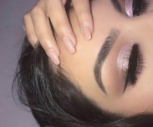 eyelashes, eyeliner, and makeup image