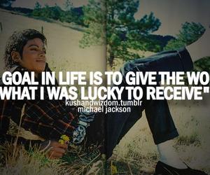 goal, life, and michael jackson image