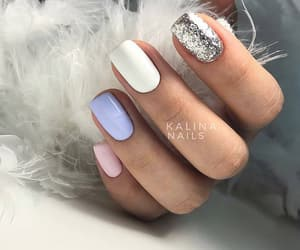 girls, nails, and glitter image