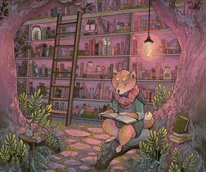 animal, books, and reading image