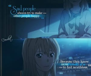 anime, anime sad, and cry image
