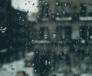 cold, rain, and window image