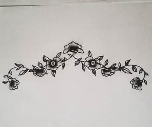 design, roses, and tattoo image