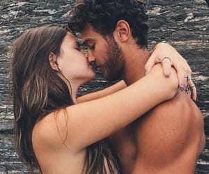 couple, topless, and cute image