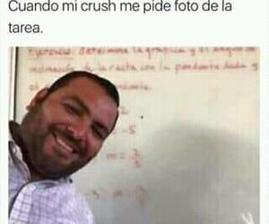meme, crush, and tarea image