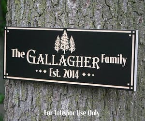 etsy, family name sign, and custom cabin sign image