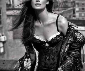 black and white, fashion, and Lily Aldridge image