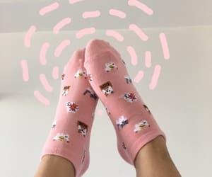 edit, pink, and socks image