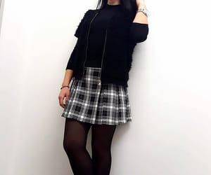 black and white, skirt, and university image