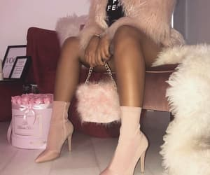 fashion style, pink feed, and shoes heels image