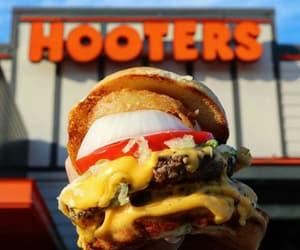 burger, food, and Hooters image