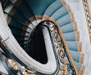blue and stairs image