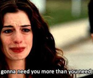 quotes, Anne Hathaway, and sad image