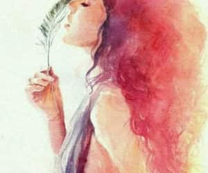 art, draw, and watercolor image