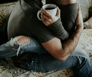coffee, couple, and heart image