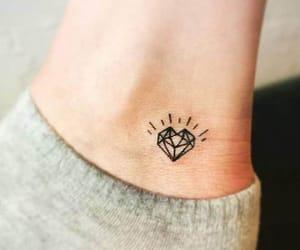 tattoo, heart, and diamond image