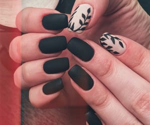 black, girl, and nail image