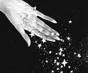 stars, hand, and art image