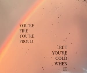 background, quotes, and rainbow image