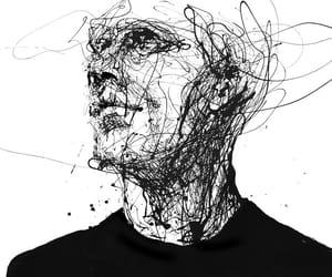 art, drawing, and black image