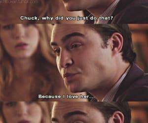 love, blair waldorf, and chuck bass image