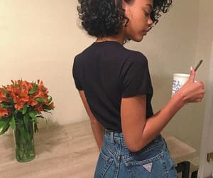 curls and outfit image