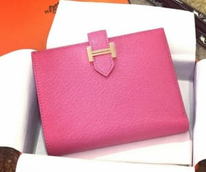 pink, vallet, and hermes image