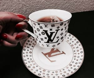 tea, luxury, and Louis Vuitton image