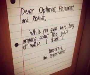 optimist, pessimist, and opportunist image