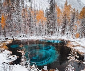 winter, altai, and the blue lake image