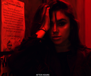 red, girl, and grunge image