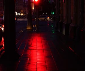 glow, maroon, and street photography image