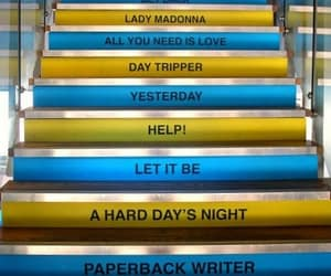 beatles, music, and stairs image