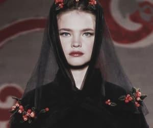 black, model, and fashion image